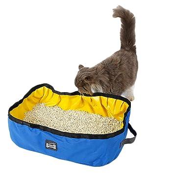 TFENG Contenedor para Cama Plegable, sartenes para niños Impermeables Portátil, 46 x 35 x 14 cm Piscina para Perros Aseo Kitty para Viaje al Aire Libre: ...