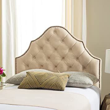 f2b9ff00e14cb Image Unavailable. Image not available for. Color  Safavieh MCR4034G-T Mercer  Collection Arebelle Pewter Velvet Headboard