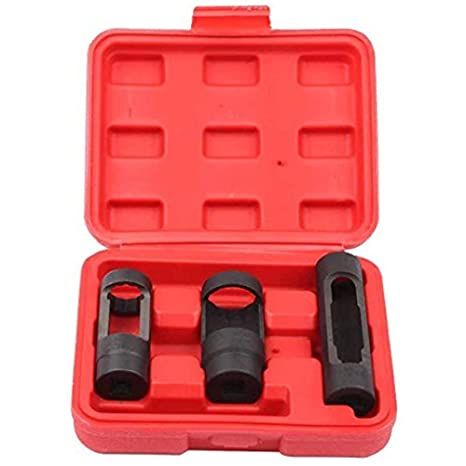 "3pc Diesel Oxygen Sensor Injector Socket Vaccum Switch  Set 22mm 28mm w// 1//2/"" Dr"