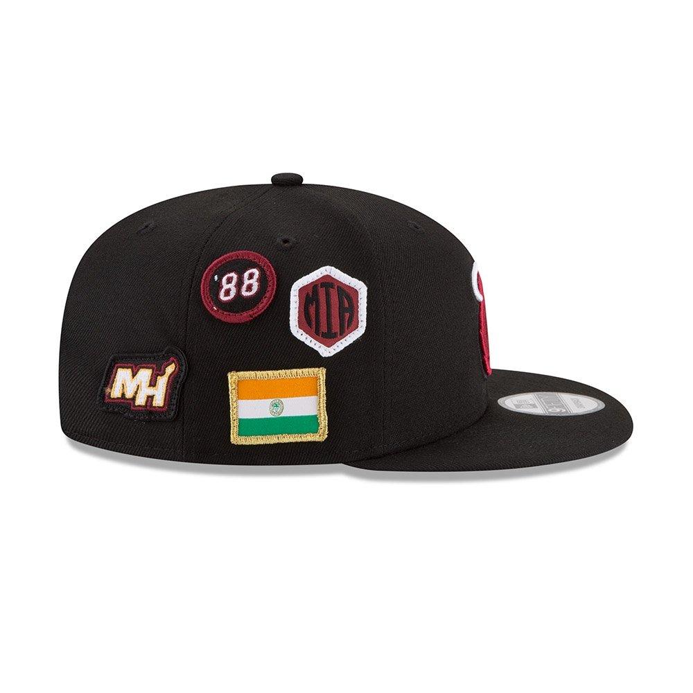 best website 0ce3a 90ae7 Amazon.com  New Era Miami Heat 2018 NBA Draft Cap 9FIFTY Snapback  Adjustable Hat- Black  Clothing