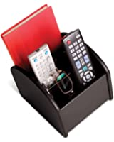Gerald TV Remote Control Spinning Caddy - Revolving Wood Valet Organizer for Television Remotes