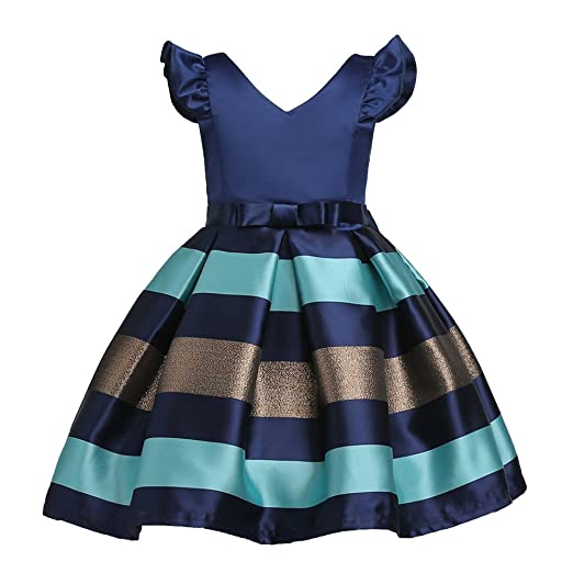 3d22b4a1f Amazon.com  Tueenhuge Baby Toddler Girls Ruffles Stripe Bowknot ...