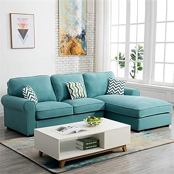 Marvelous Amazon Com Mamasam Fabric Three Person Sofa Simple Small Dailytribune Chair Design For Home Dailytribuneorg
