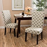 Raleigh Khaki Fabric Dining Chair Set of Two (2)