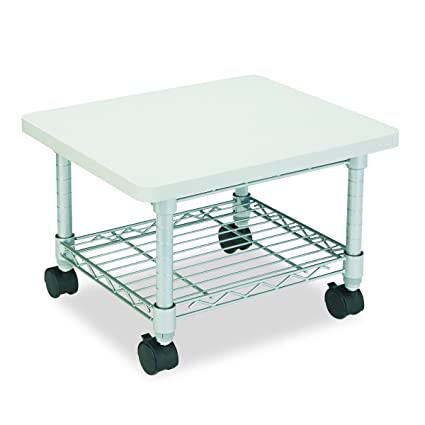 amazon com safco under desk printer fax stand kitchen dining