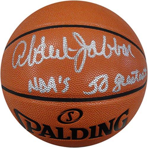Kareem Abdul Jabbar Hand Signed Auto Spalding Basketball NBA 50 Greatest Beckett