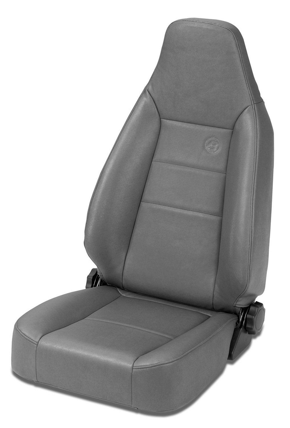 Bestop 39434-01 TrailMax II Sport Black Crush Front High Back All-Vinyl Single Jeep Seat for 1976-2006 Jeep CJ and Wrangler