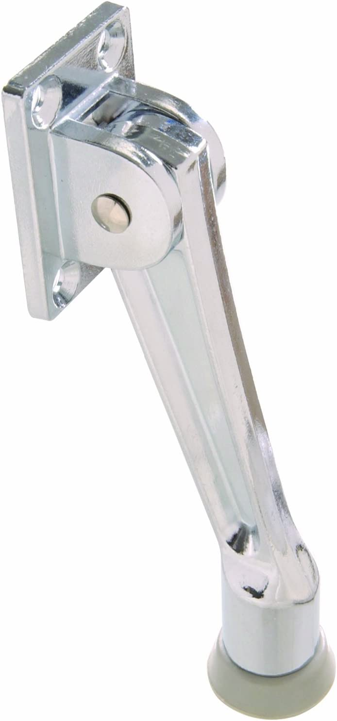 The Hillman Group The Hillman Group 852942 5 Kickdown Door Stop Chrome 1-Pack