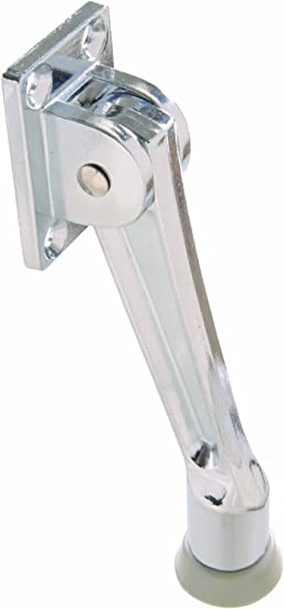 Amazon Com The Hillman Group The Hillman Group 852942 5 Kickdown Door Stop Chrome 1 Pack Home Improvement