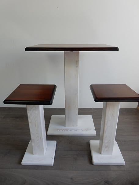Mesa de madera con 2 taburetes coordinati. Muebles para pequeños ...