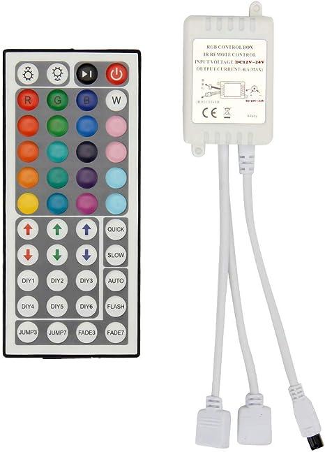 Mini 24-Key IR Remote Controller 12V 2A For LED RGB 5050 Light Strip