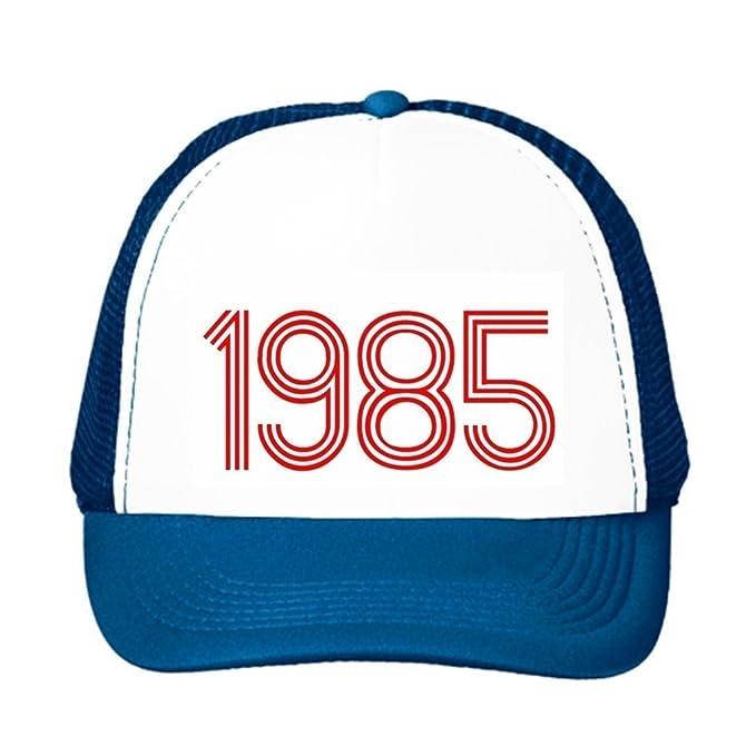 Gorra trucker hat-1985 Classic Retro font Trucker gorro, Azul ...