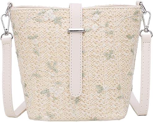 Vintage White Summer Straw Purse Hobo Boho Messenger Bag Handbag GLOBAL Ship!