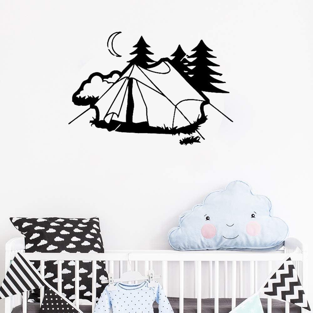 Tianpengyuanshuai Tienda de habitación para niños, Pegatinas de Pared para Acampar, murales de Vinilo, decoración del hogar, Descanso Natural, Vacaciones, extraíble, 73X50 cm
