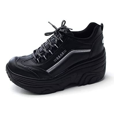 ab9a098559d2b EpicStep Women's Cheerleaders Shoes High Heels Lace Up Casual Platform  Fashion Sneakers