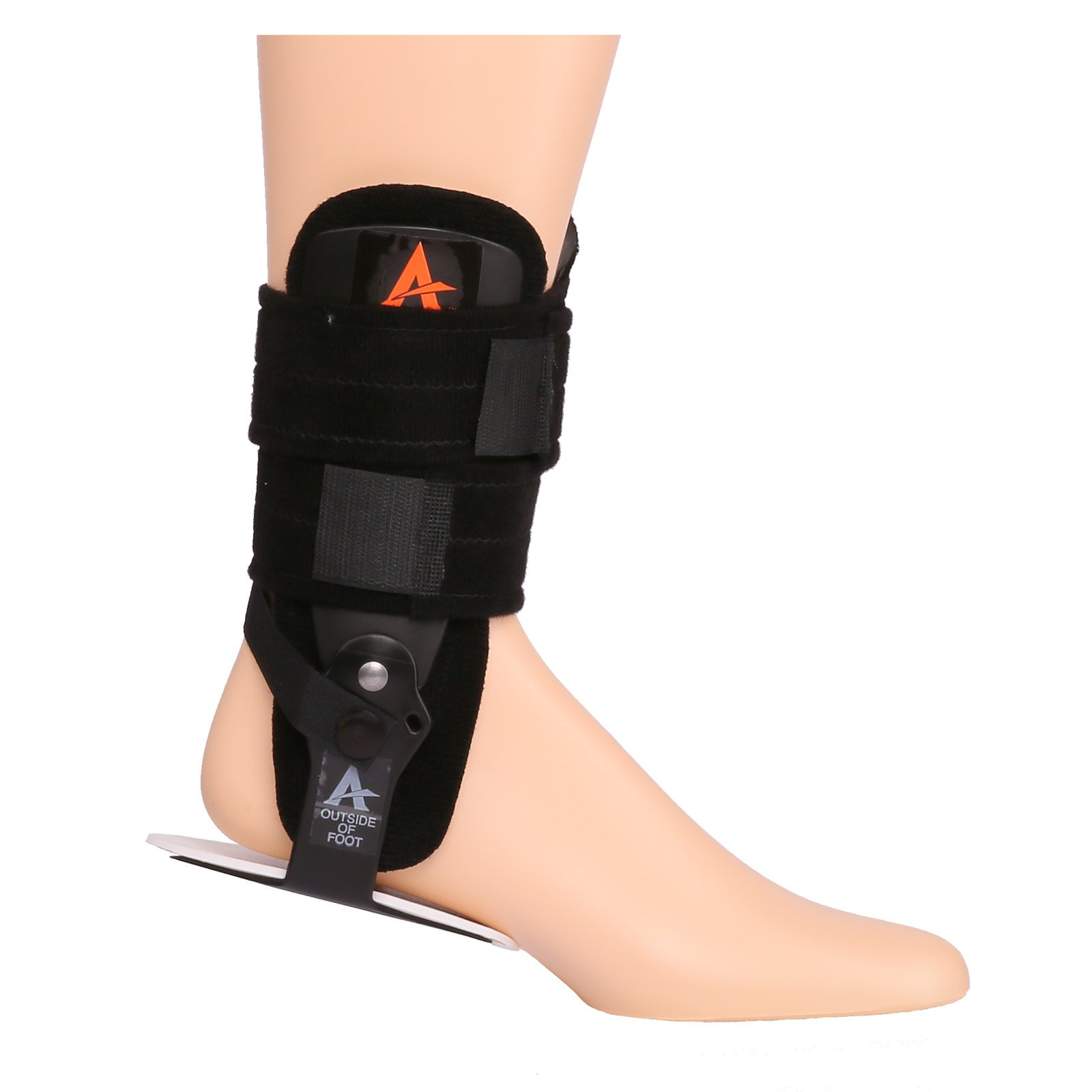 Active Ankle Multi-Phase Stabilizing Ankle Orthosis, Medical Stabilizer Brace, Support for Weak Ankles & Ankle Injuries, Edema Control, and Swelling, Adjustable Multi Phase Ankle Brace, Black, Small