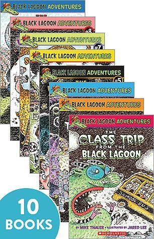 (Black Lagoon Book Set 1-10;Class Trip,Talent Show,Class Election,Science Fair,Halloween Party,Field Day,School Carnival,Valentine's Day,Christmas Party,Little League)