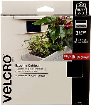 VELCRO Brand Outdoor Wide Heavy Duty Strips | 6