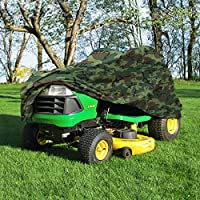 "NEH Deluxe Riding Lawn Mower Tractor Cover Fits Decks up to 54"" - Camouflage - Water, Mildew, and UV Resistant Storage Cover"