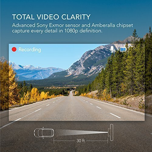 Roav-DashCam-C2-by-Anker-FHD-1080P-3-LCD-4-Lane-Wide-Angle-View-Lens-G-Sensor-WDR-Loop-Recording-Night-Mode-2-Port-Charger-No-Wi-Fi-or-App