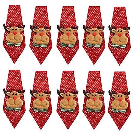 Webrosistol Corbata Navidad Niño Adultos Niña Novedad ...
