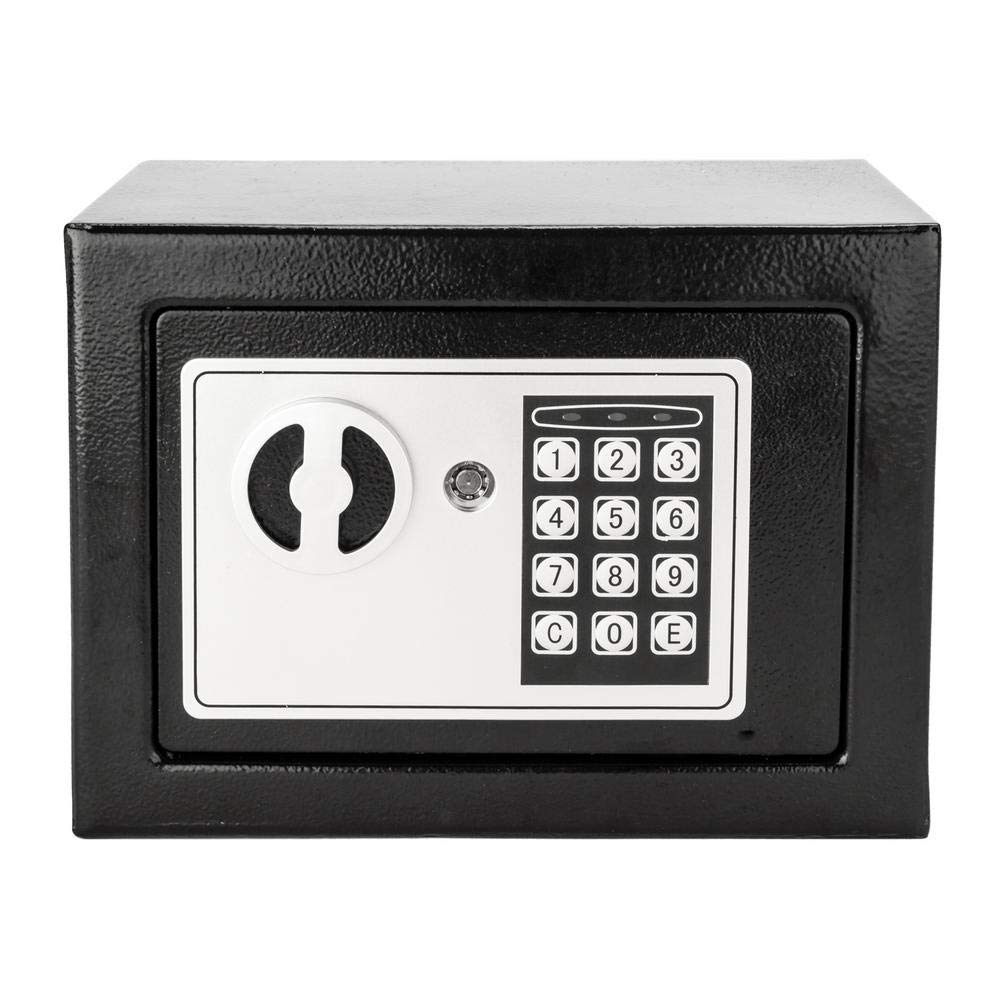 ReauBest 17E Portable Electronic Password Security Case Lock Box Safe for Home Use Black by ReauBest