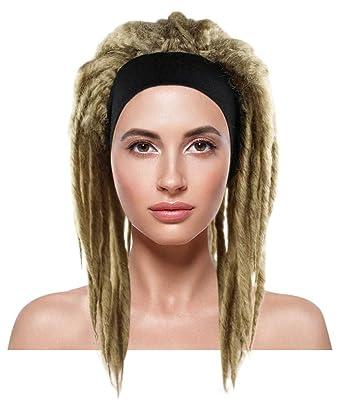 HandinHandCreations Dreadlocks Wig Hippie Beach Bum Reggae Rasta Man Black Dreads Costume Handmade