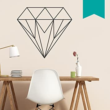 WANDKINGS Wandtattoo U0026quot;Origami Style Diamantu0026quot; 90 X 83 Cm   Türkis