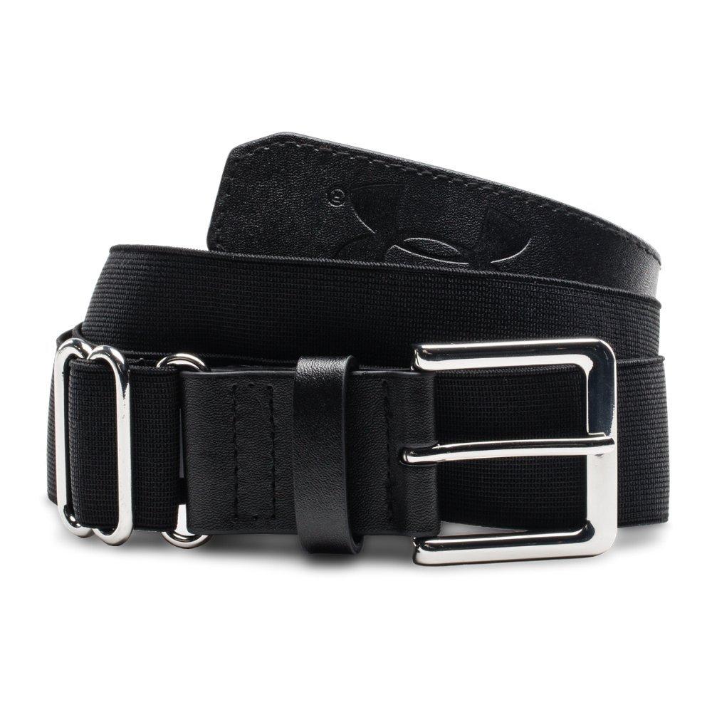 Under Armour Boys' Baseball Belt, Black/Black, One Size