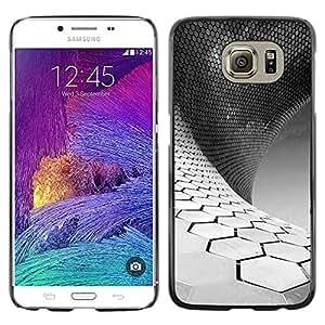 Be Good Phone Accessory // Dura Cáscara cubierta Protectora Caso Carcasa Funda de Protección para Samsung Galaxy S6 SM-G920 // Science White Black Minimalist
