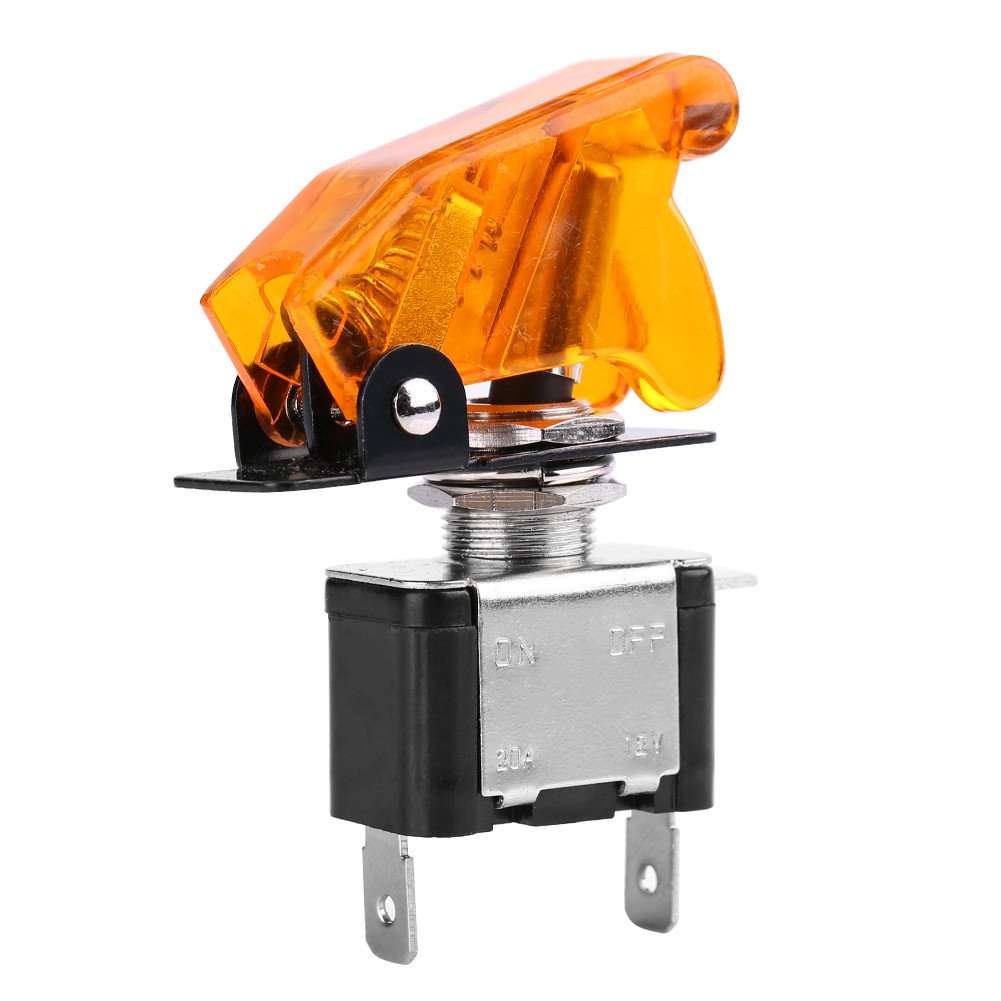 amarillo 12V 20A Interruptor de luz LED de coche Luz LED SPST Conmutador de interruptor basculante Interruptor de palanca de luz LED