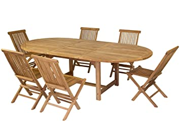 Hogar Decora Mesa Extensible y Seis sillas Plegables a Juego ...