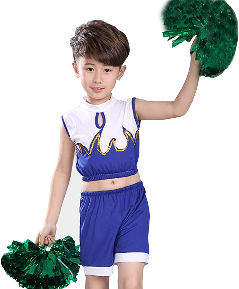 Amazon.com: XFentech Boys & Girls Cheerleading Dance Costumes Childrens  Fashion Gymnastic Performance Clothes Set: Clothing