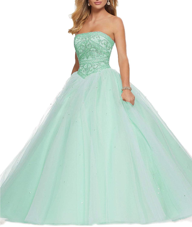 Turquoise Wanshaqin Women's Off Shoulder HandBeaded Ball Gown Wedding Dresses LaceUp Plus Size for Brides