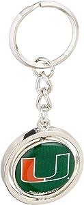 NCAA University of Miami (Florida) 20473013 Spinner Key Ring