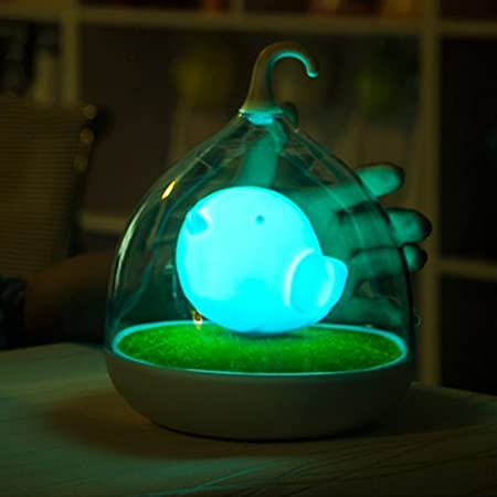 Jaula de Pájaros lámpara, Creative batería regulable Touch Sensor ...