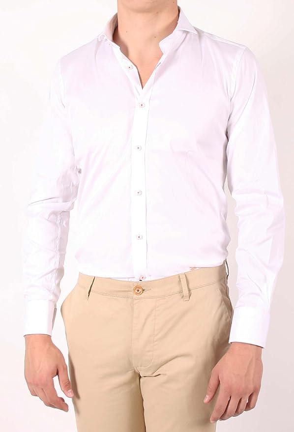 Alvaro Moreno, Camisa Strech Popelin-43, color Blanco: Amazon ...