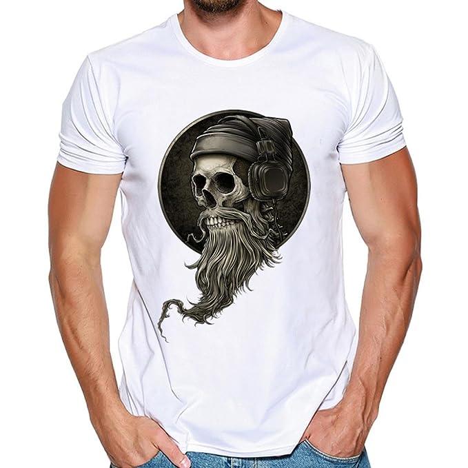 Resplend Hombres Que Imprimen la Blusa de la Camiseta de Manga Corta de la Camisa de