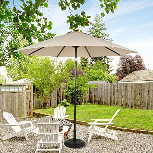 Ulax Furniture Sunbrella 9 Ft Outdoor Umbrella Patio Market Umbrella Aluminum