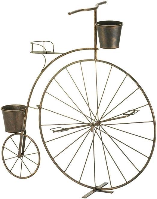 Macetero de hierro para jardín o bicicleta, de alta rueda, para ...