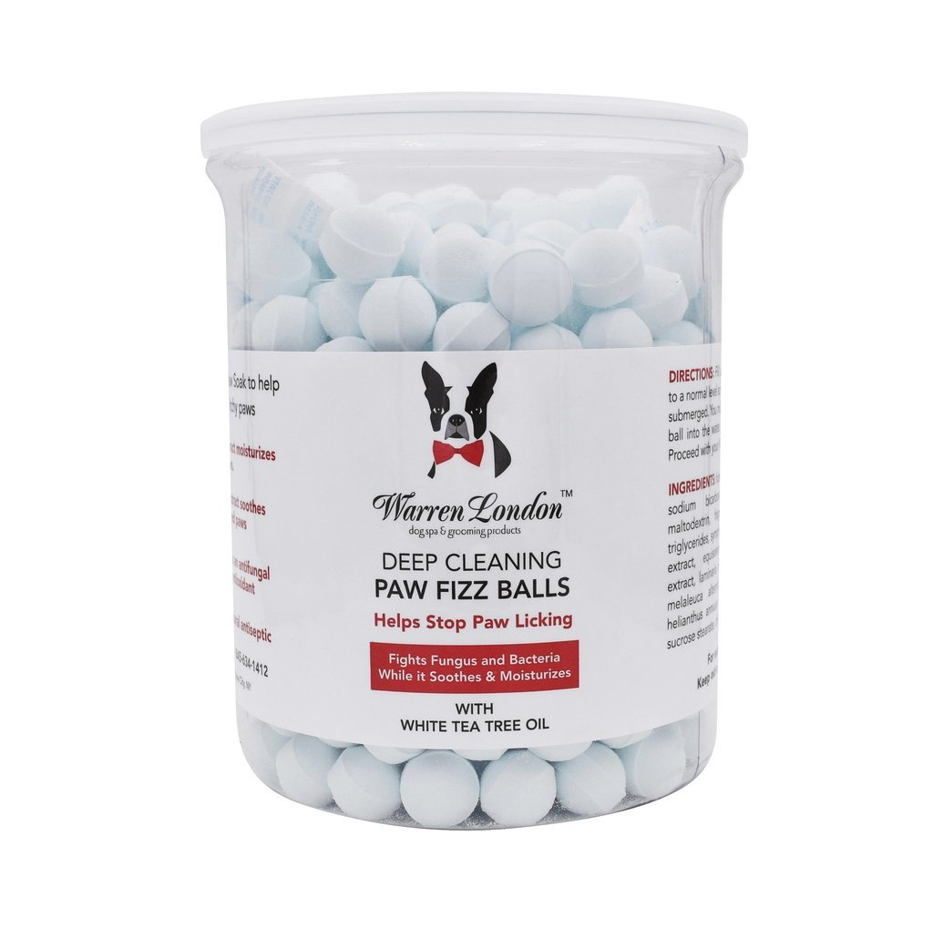 Warren London - Deep Cleaning Paw Fizz Balls - Paw Soak That Cleans, Soothes, and Moisturizes Irritated Paws - Helps Stop Paw Licking! - 300 Balls by Warren London
