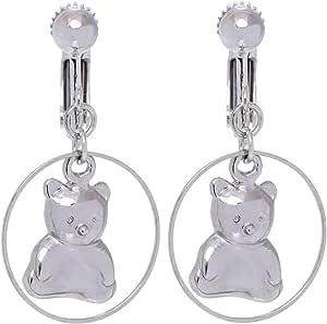 GrandUAE Women's Alloy Earring - Teddy, Silver