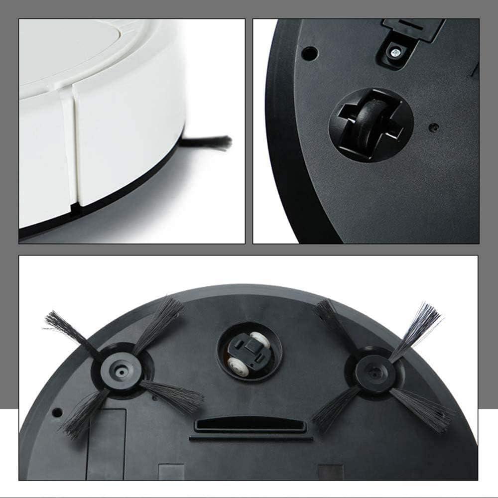 WJJH Robot Aspirateur 3 en 1 Balayer Ultra Slim Mopping Aspirer Balayer Robot Anti Collision capteur pour Plancher de tuiles Pet Tapis Cheveux, Blanc,Blanc White