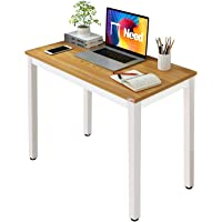 Need Small Computer Desk Sturdy and Heavy Duty Writing Desk for Small Spaces Home Office Computer Workstation Small Desk…