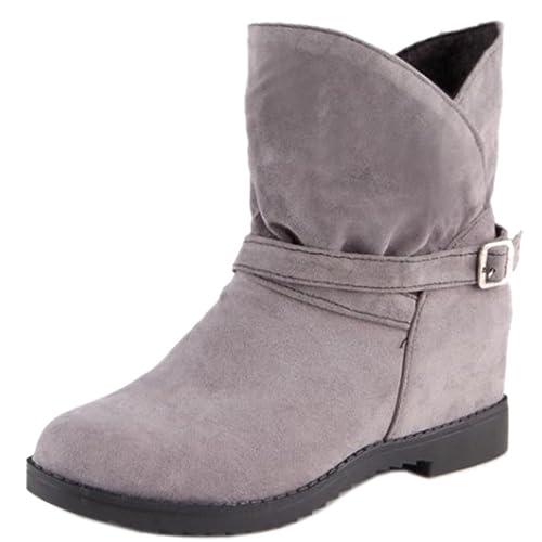 RAZAMAZA Botas Casuales de Tacon Alto Cuna Interior para Mujer  Amazon.es   Zapatos y complementos 825f493f3484f