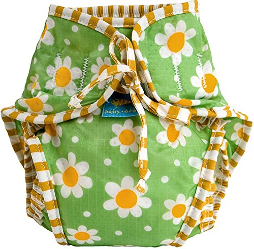 Price comparison product image Kushies Baby Unisex Swim Diaper,  Green Daisy Print,  Small