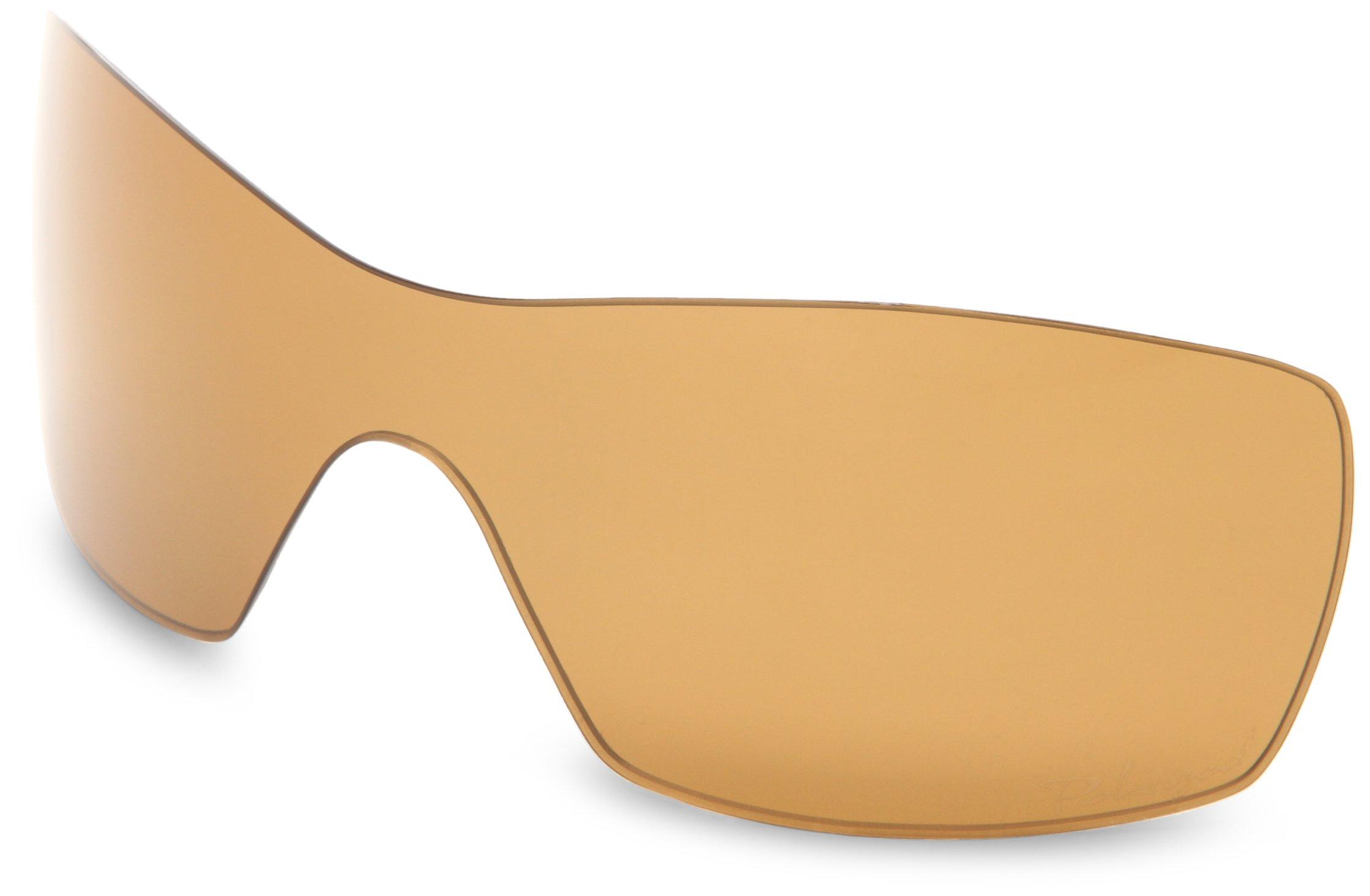 Oakley Dart 13-982 Polarized Rimless Sunglasses,Multi Frame/Bronze Lens,One Size