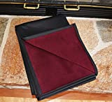 BEST 100% WATERPROOF FLEECE PET THROW DOG BLANKET; Washable, Hypoallergenic: Guaranteed Protection For Furniture & Bed Made in USA (84 x 60'')(Bordeaux Fleece with Black)