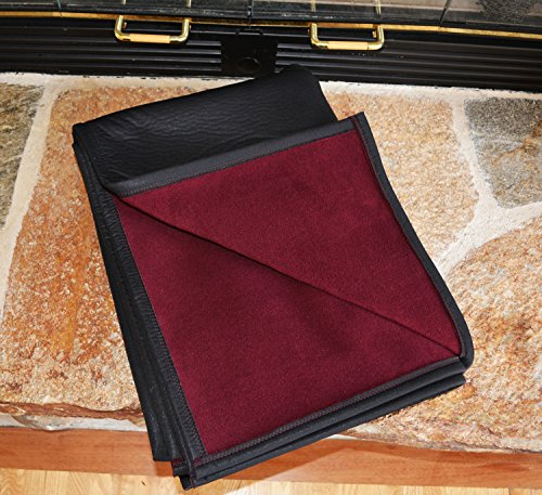 BEST 100% WATERPROOF FLEECE PET THROW DOG BLANKET; Washable, Hypoallergenic: Guaranteed Protection For Furniture & Bed Made in USA (84 x 60'')(Bordeaux Fleece with Black) by TETON DOG