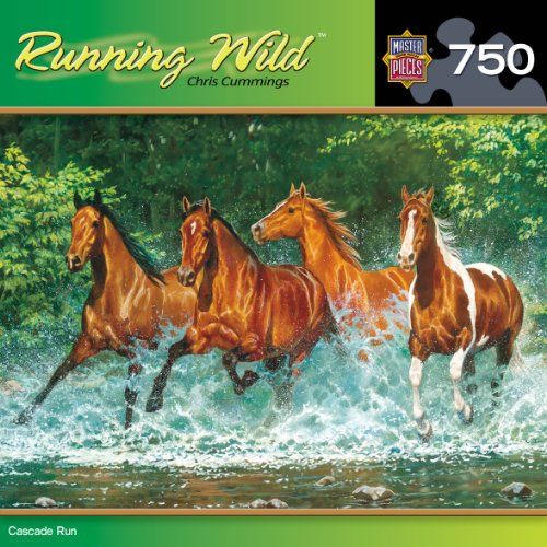 MasterPieces Cascade Run Jigsaw Puzzle, Art by Chris Cummings, 750-Piece